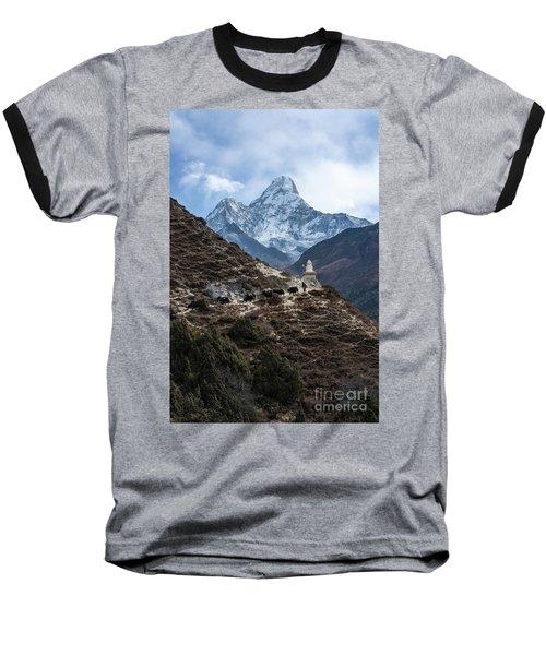 Baseball T-Shirt featuring the photograph Himalayan Yak Train by Mike Reid