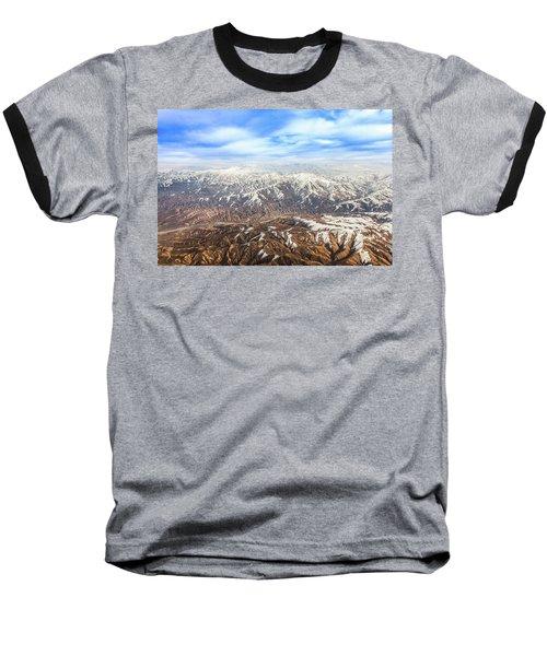 Hindu Kush Snowy Peaks Baseball T-Shirt