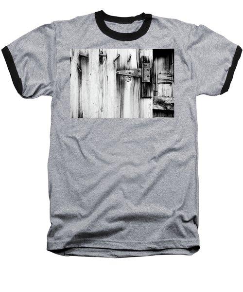 Hinged In Black And White Baseball T-Shirt