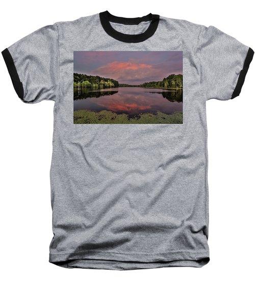 Hinson Lake Clouds Baseball T-Shirt