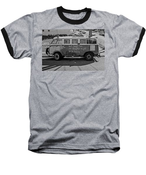 Baseball T-Shirt featuring the photograph Hippie Van, San Francisco 1970's by Frank DiMarco