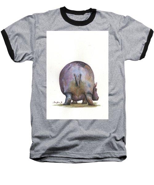 Hippo Back Baseball T-Shirt