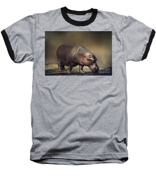 Baseball T-Shirt featuring the photograph Hippo by Charuhas Images