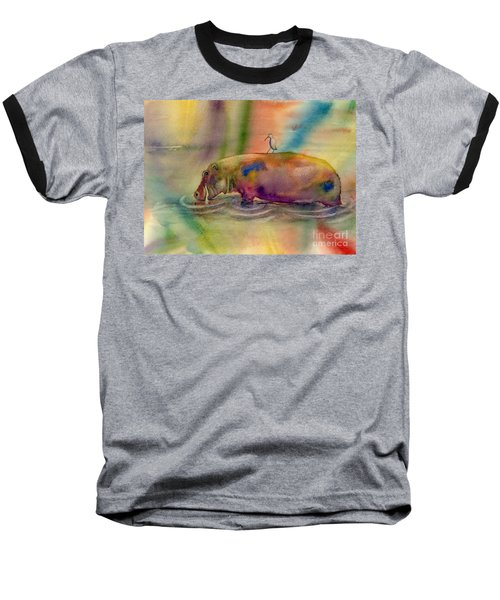 Hippy Dippy Baseball T-Shirt by Amy Kirkpatrick