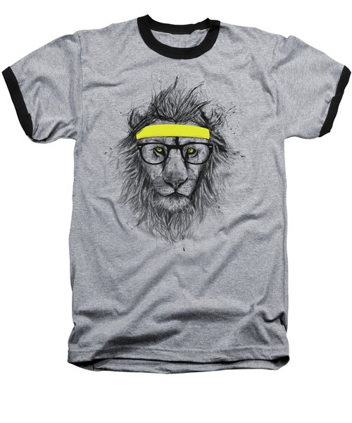 Hipster Lion Baseball T-Shirt