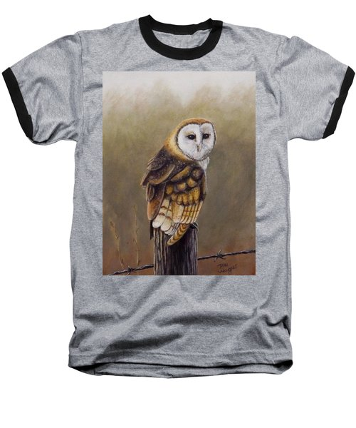 His Majesty Sits Baseball T-Shirt by Dan Wagner