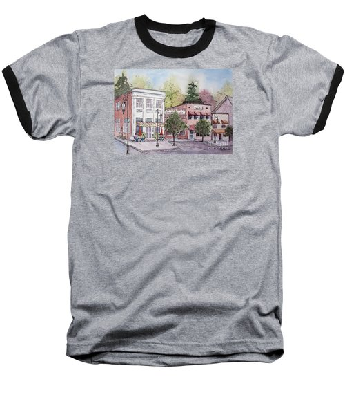 Baseball T-Shirt featuring the painting Historic Blue Ridge, Georgia by Gretchen Allen