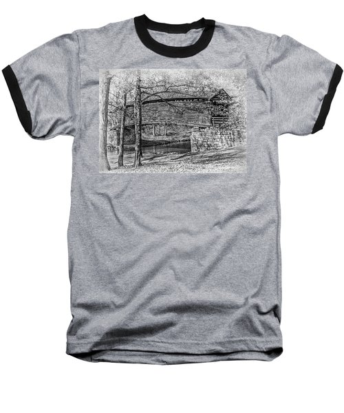 Baseball T-Shirt featuring the photograph Historic Bridge by James Woody