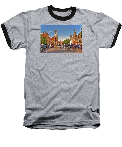 Historic Bruges Baseball T-Shirt by Dennis Cox WorldViews