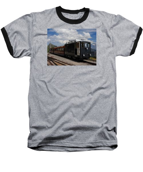 Historic Cogwheel Train  Baseball T-Shirt by Ernst Dittmar