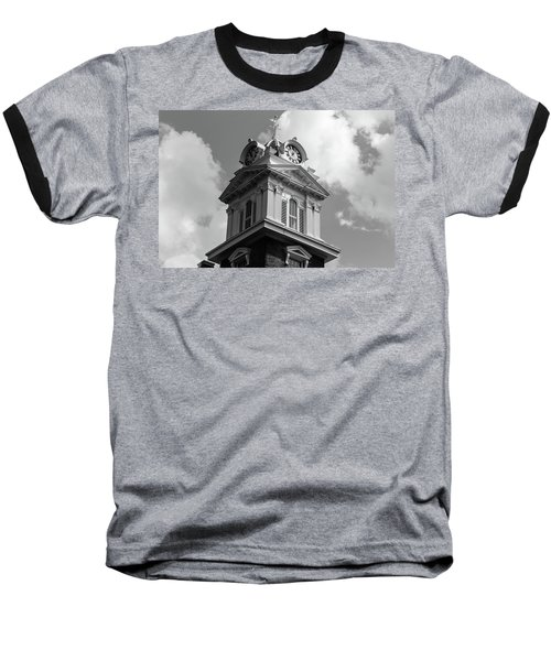 Historic Courthouse Steeple In Bw Baseball T-Shirt