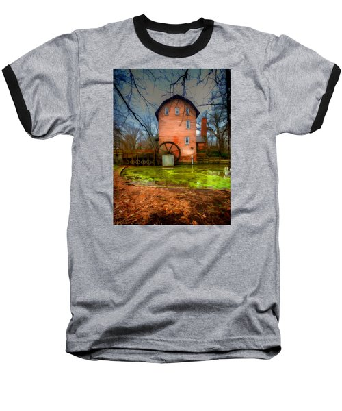 Historic Grist Mill In Hobart, In Baseball T-Shirt