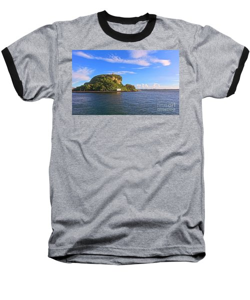 Baseball T-Shirt featuring the photograph Historic Lighthouse On Chijin Island by Yali Shi