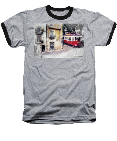 Historic Lisbon Tram Baseball T-Shirt