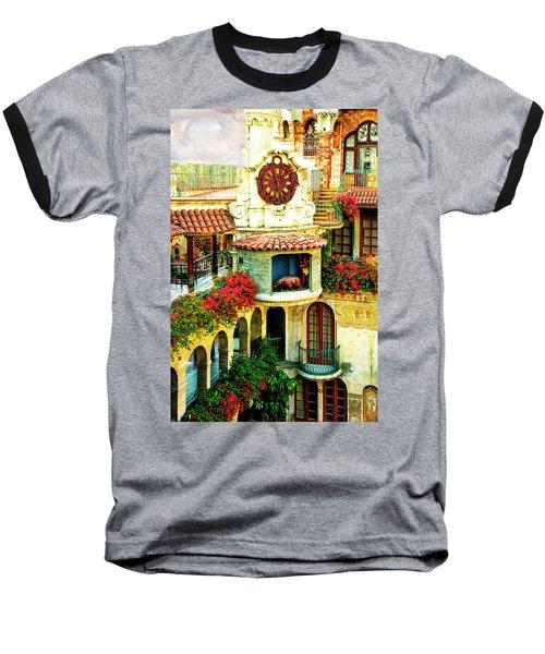 Historic Mission Inn Clock Baseball T-Shirt