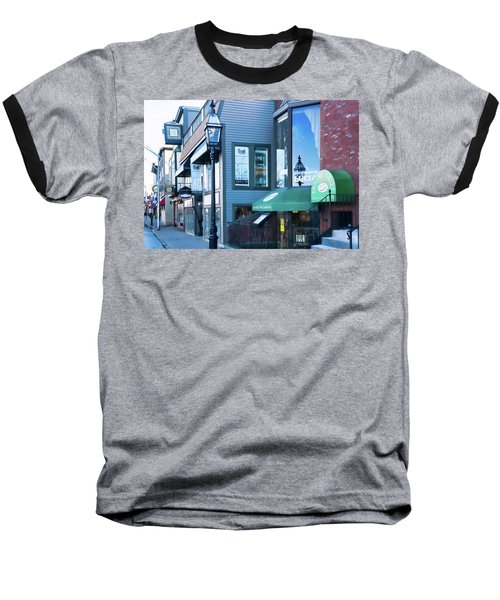 Historic Newport Buildings Baseball T-Shirt