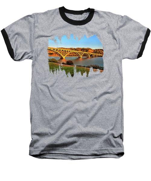 Historic Patterson Bridge Gold Beach Baseball T-Shirt by Thom Zehrfeld
