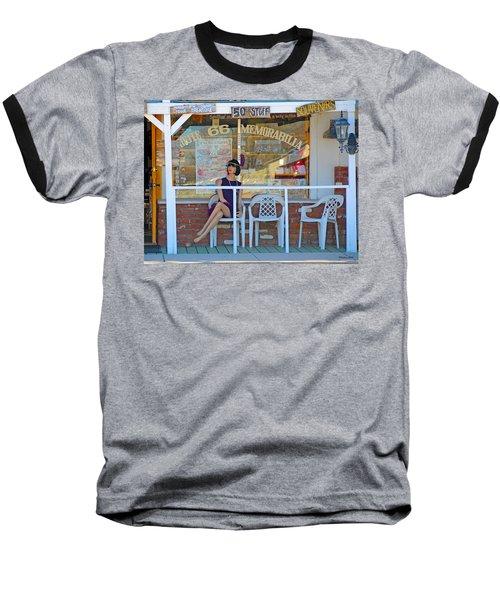 Historic Route 66 Memorabilia Baseball T-Shirt