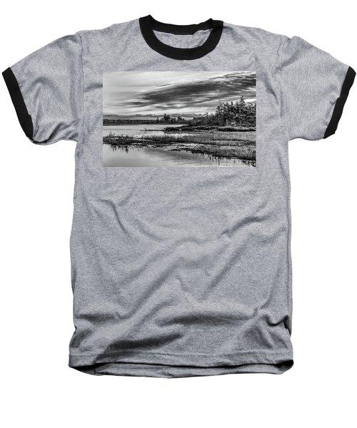 Historic Whitebog Landscape Black - White Baseball T-Shirt