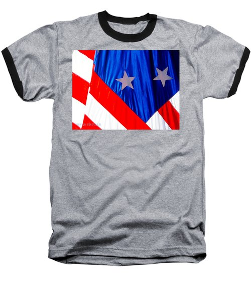 Historical American Flag Baseball T-Shirt