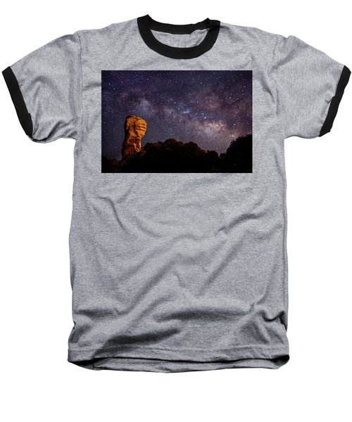 Hitchcock Pinnacle Nightscape -- Milky Way Baseball T-Shirt