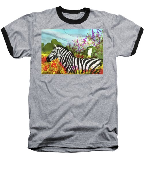 Hitching A Ride Baseball T-Shirt by Suzanne Canner