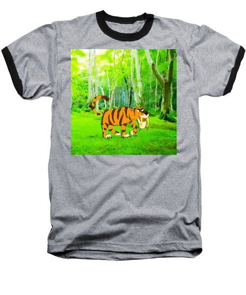 Hungry Tiger In The Jungle Baseball T-Shirt