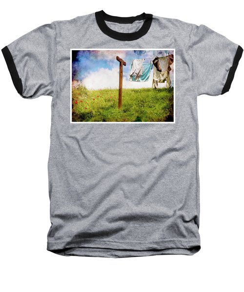Hobbit Clothesline And Poppies Baseball T-Shirt