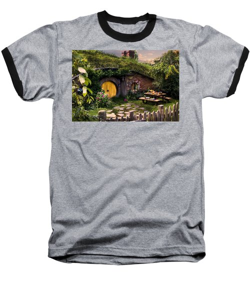 Hobbit Hole At Sunset Baseball T-Shirt