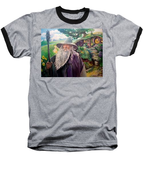 Hobbit Baseball T-Shirt by Paul Weerasekera