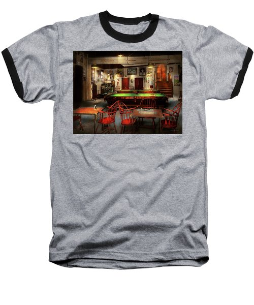 Baseball T-Shirt featuring the photograph Hobby - Pool - The Billiards Club 1915 by Mike Savad