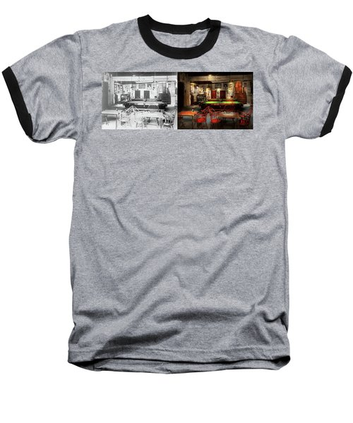 Baseball T-Shirt featuring the photograph Hobby - Pool - The Billiards Club 1915 - Side By Side by Mike Savad