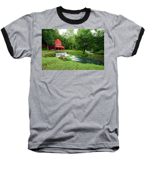 Hodgson Water Mill And Spring Baseball T-Shirt by Cricket Hackmann