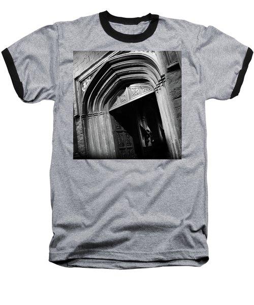 Hogwards Door  Baseball T-Shirt by Gina Dsgn