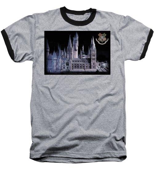 Hogwards School  Baseball T-Shirt by Gina Dsgn
