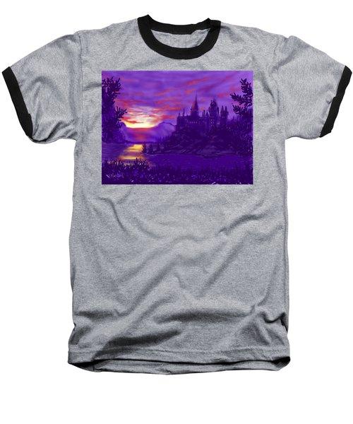 Hogwarts In Purple Baseball T-Shirt