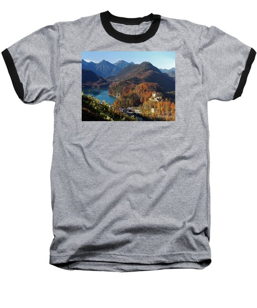 Hohenschwangau Castle And Alpsee In Bavaria Baseball T-Shirt by Rudi Prott