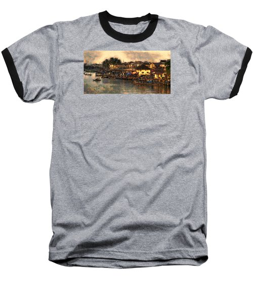 Baseball T-Shirt featuring the digital art Hoi Ahnscape by Cameron Wood