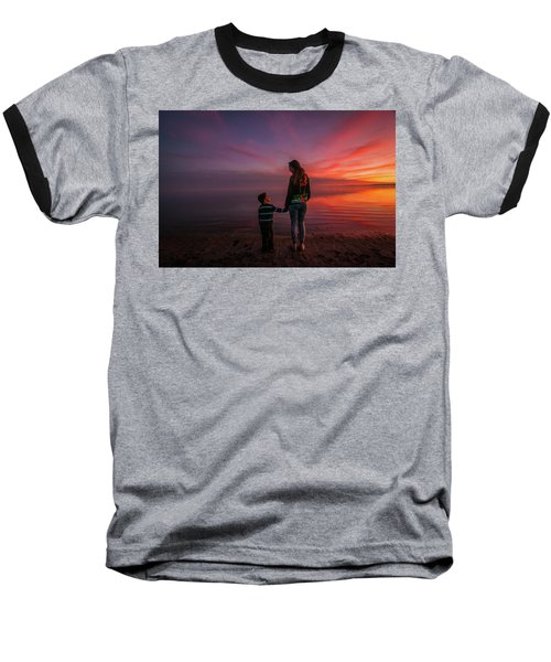 Hold My Hand Little Brother Baseball T-Shirt by Ralph Vazquez