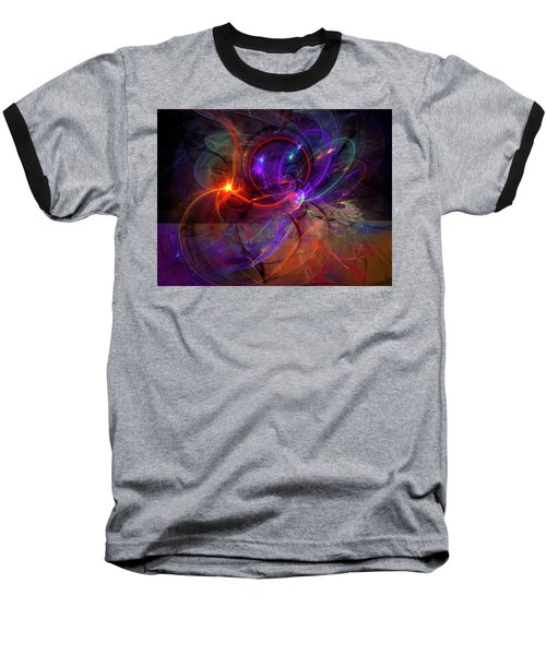 Hold On Love - Abstract Colorful Art Baseball T-Shirt by Modern Art Prints