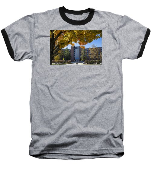 Holden Hall Cropped  Baseball T-Shirt by John McGraw