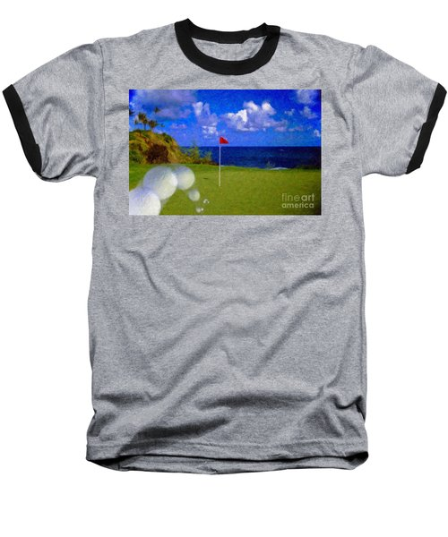 Baseball T-Shirt featuring the photograph Fantastic 18th Green by David Zanzinger