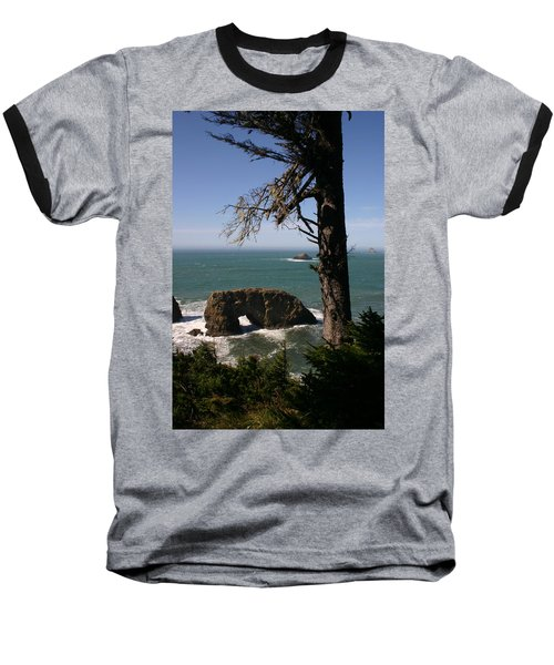 Baseball T-Shirt featuring the photograph Hole In One At Arch Rock by Marie Neder