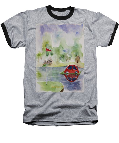 Baseball T-Shirt featuring the painting Hole In One Prize by Geeta Biswas