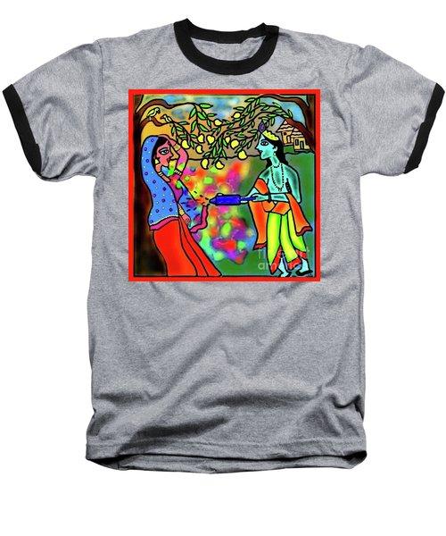 Holi Baseball T-Shirt by Latha Gokuldas Panicker
