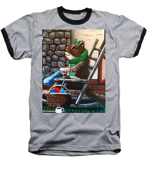 Holiday Knitting Baseball T-Shirt