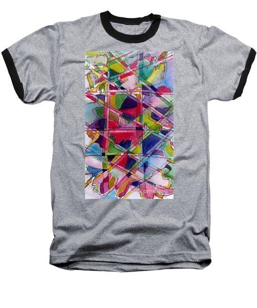 Holiday Rush Baseball T-Shirt by Jan Bennicoff