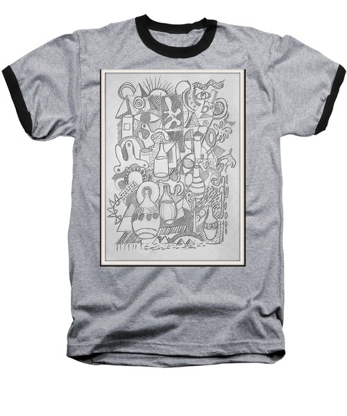 Baseball T-Shirt featuring the drawing Holiday Thoughts by Rosemary Colyer