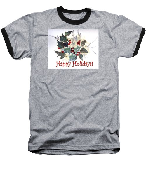 Baseball T-Shirt featuring the painting Holidays Card -1 by Dorothy Maier