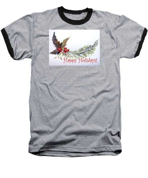 Holidays Card - 2 Baseball T-Shirt